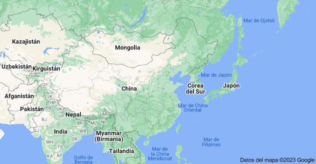 Mapa de East Asia