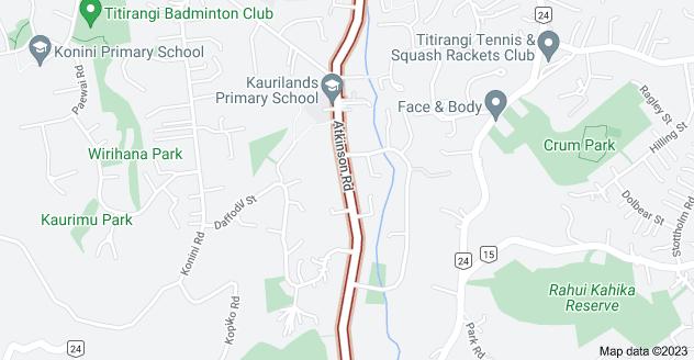 Location of Atkinson Road