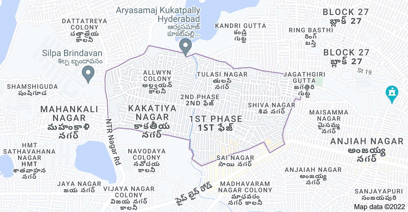 Map of Allwyn Colony, Kukatpally, Hyderabad, Telangana 500072, India