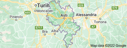 Map of Province of Asti