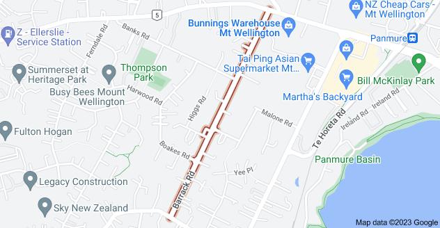 Location of Barrack Road