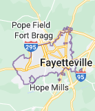 Map of Fayetteville, North Carolina