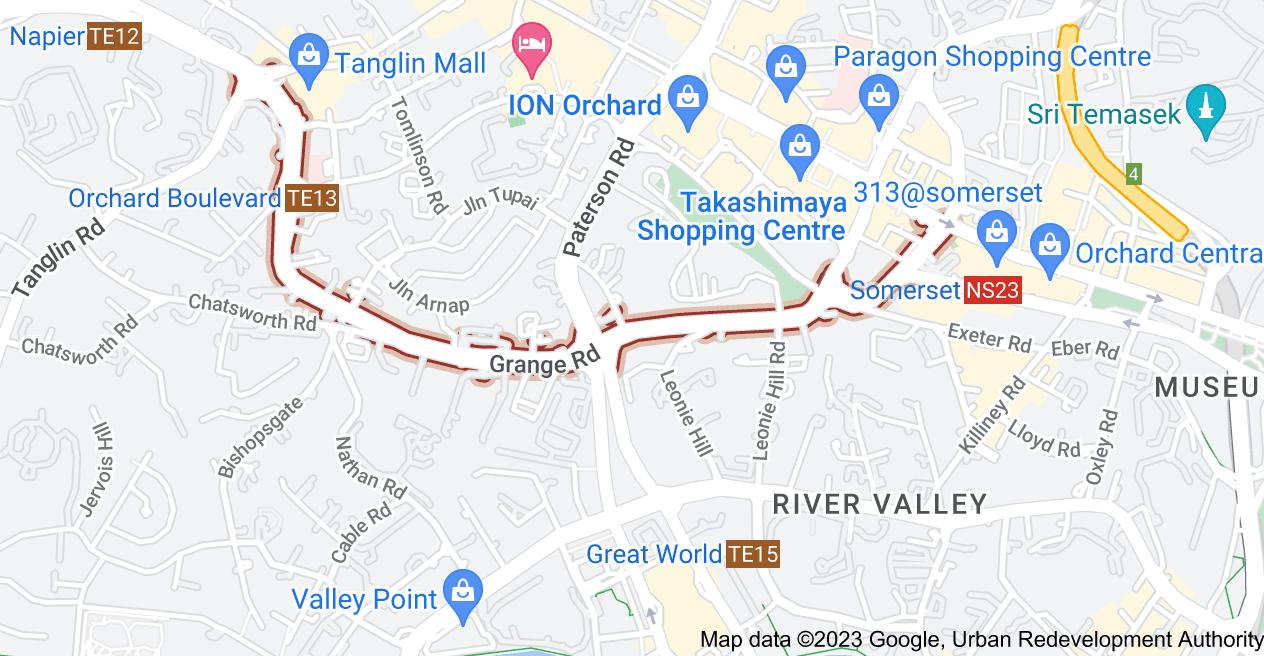 Map of Grange Rd