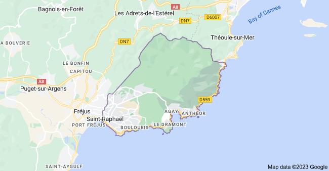 Map of 83700 Saint-Raphaël