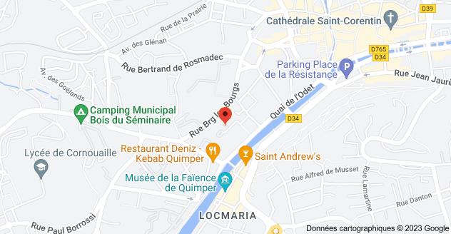 1 Rue Joseph Halleguen, 29000 Quimper: carte