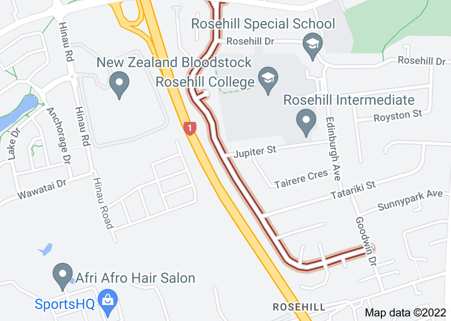 Location of Chichester Drive