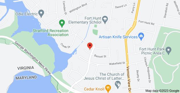 Map of 8902 Stratford Ln, Alexandria, VA 22308