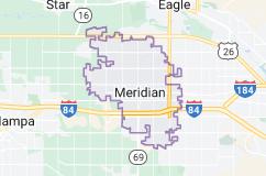Map of Meridian, Idaho