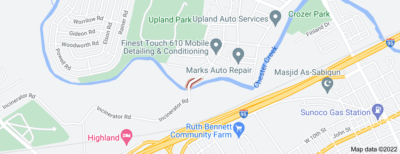 Location of Upland Road