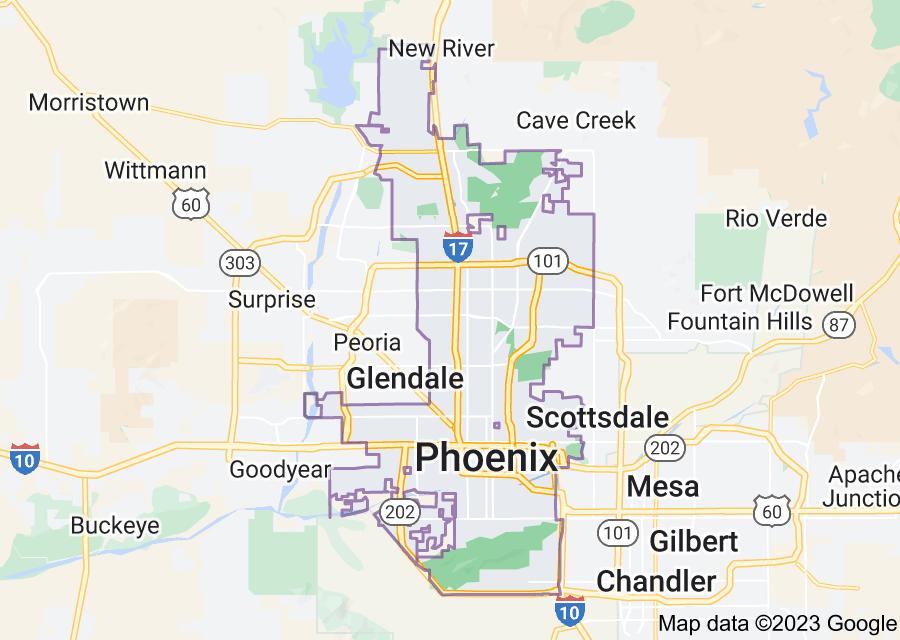 Location of Phoenix