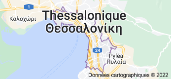 Thessalonique : carte