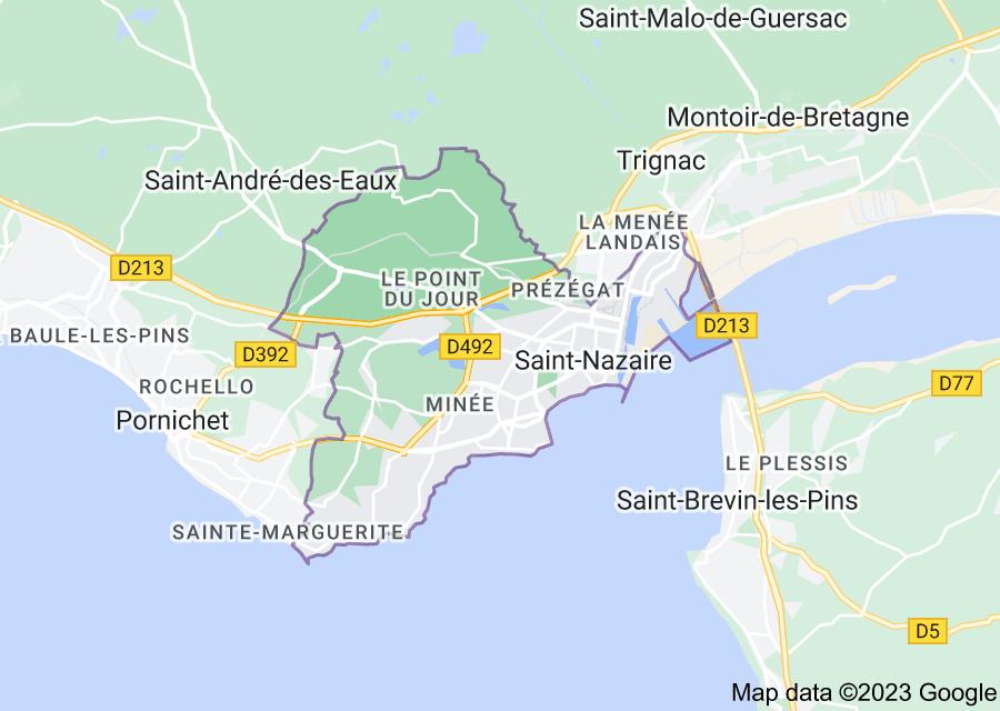 Location of Saint-Nazaire
