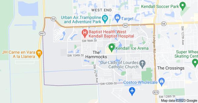 Map of The Hammocks, FL