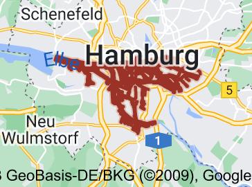 Map of Port of Hamburg