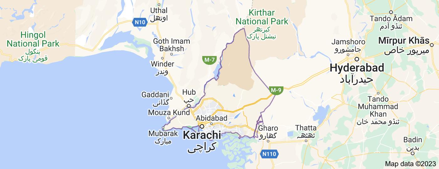 Location of Karachi