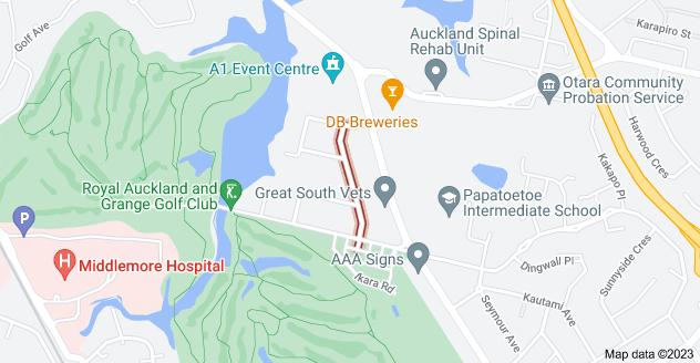 Location of Mccullough Avenue