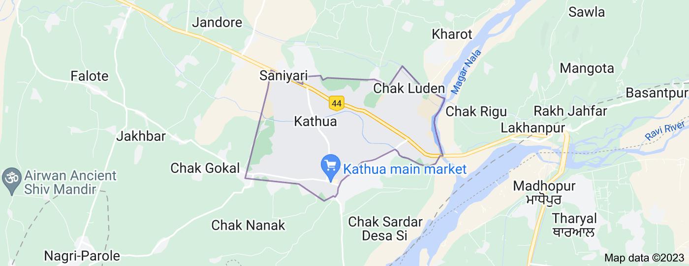Location of Kathua