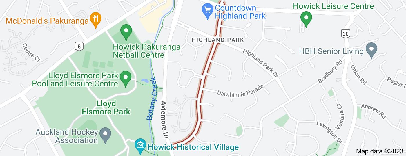 Location of Aberfeldy Avenue