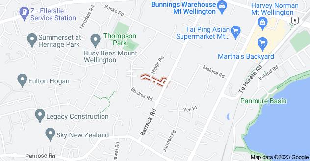 Location of McCracken Road
