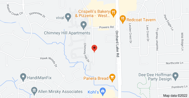 Map of 6775 Daly Rd, West Bloomfield Township, MI 48322
