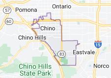 Map of Chino, California