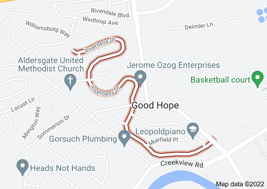 Location of Inverness Drive