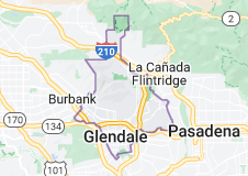 Map of Glendale, California