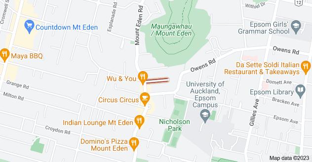 Location of Oaklands Road