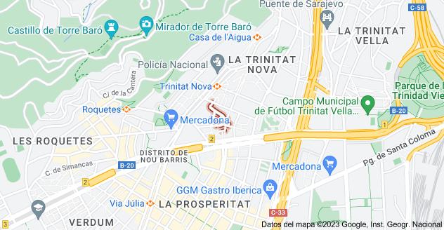 Mapa de Carrer d'Alhucemas, 08033 Barcelona, España