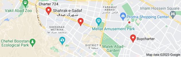 Map of بلیط مشهد چارتر