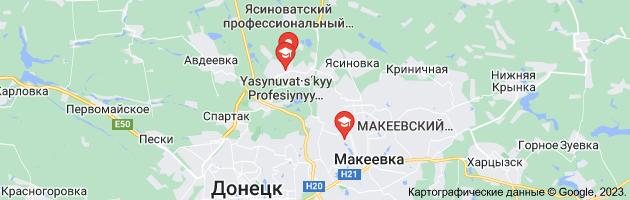 ясиноватский профессиональный строительный лицей: карта