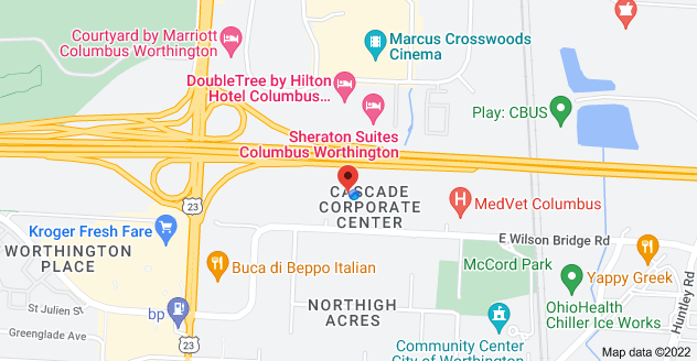 Map of 150 E Wilson Bridge Rd, Worthington, OH 43085