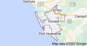 Map of Oxnard, California
