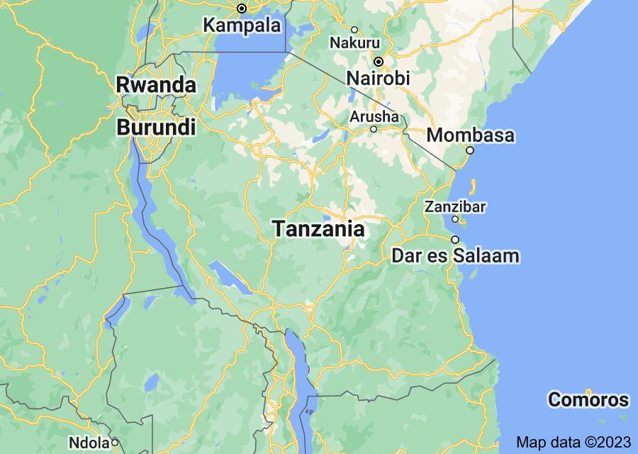 Location of Tanzania