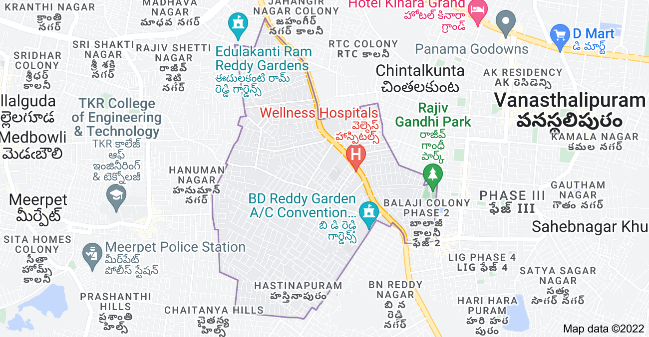 Map of Hastinapuram, Hyderabad, Telangana, India