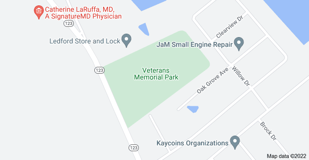 Map of Veterans Memorial Park, 919 S Broadway St, Blanchester, OH 45107