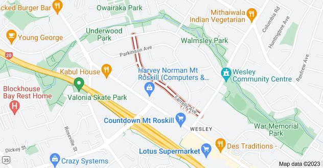 Location of Farrelly Avenue