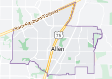 Map of Allen, Texas