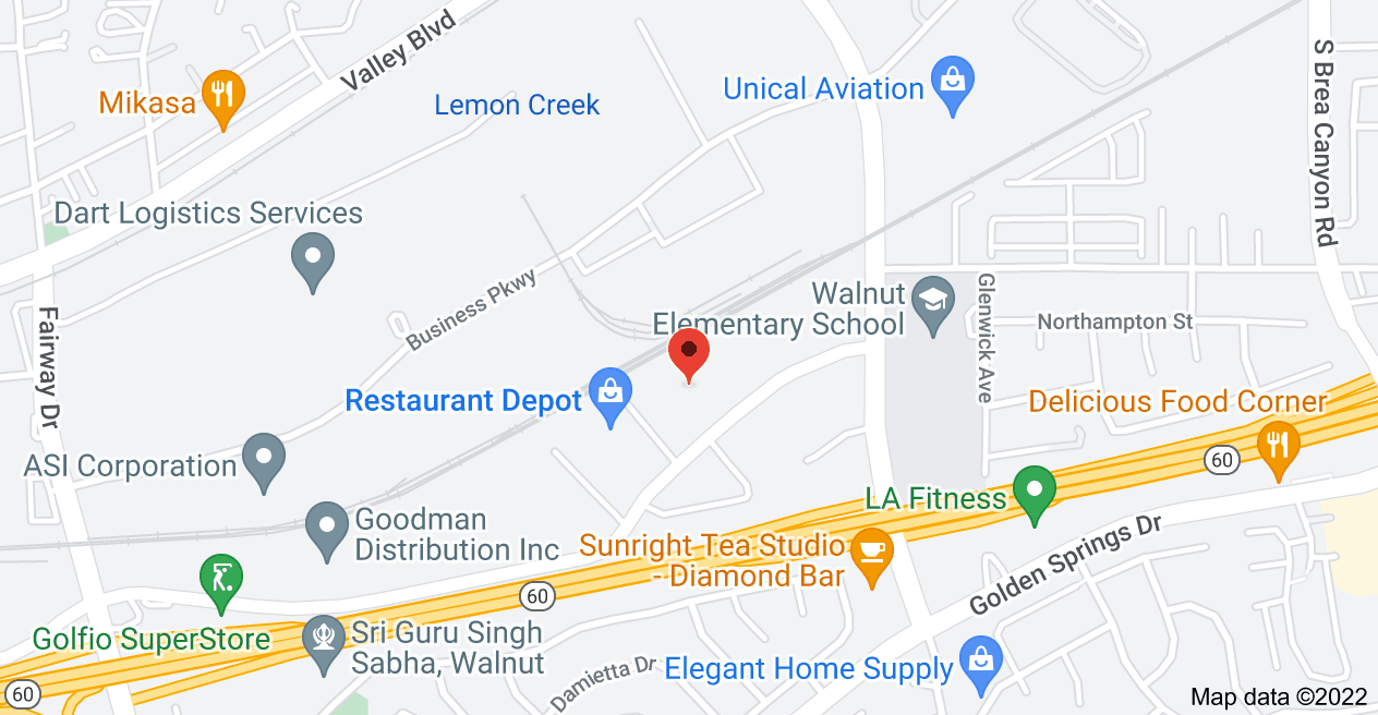 Map of 20445 E Walnut Dr N, City of Industry, CA 91789