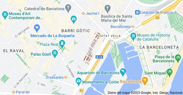 Mapa de Carrer Ample, 08002 Barcelona, España