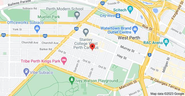 Map of 6/6 Richardson St, West Perth WA 6005