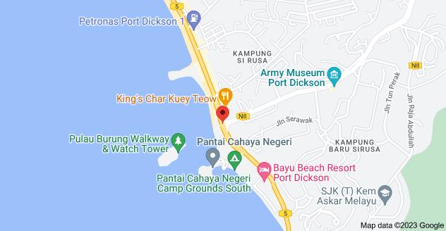 Map of 5 & Jalan Pantai, Kampung Si Rusa, 71050 Port Dickson, Negeri Sembilan