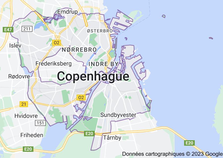 Location of Copenhague