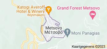 Kaart van Metsovo