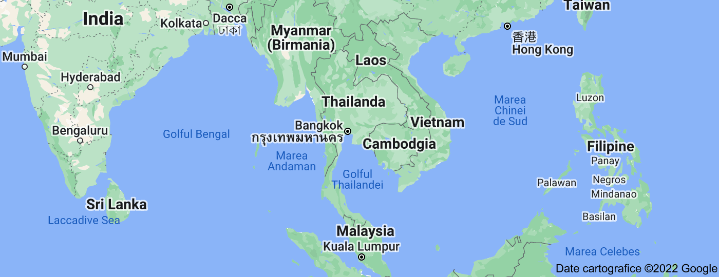 Location of Thailanda