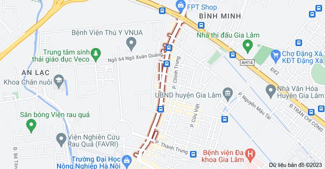 Bản đồ của Ngô Xuân Quảng, tt. Trâu Quỳ, Gia Lâm, Hà Nội
