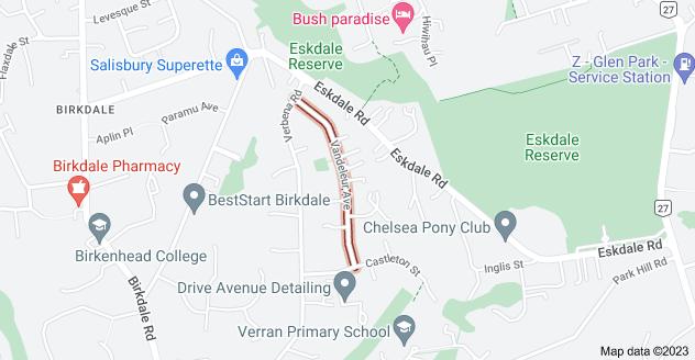 Location of Vandeleur Avenue
