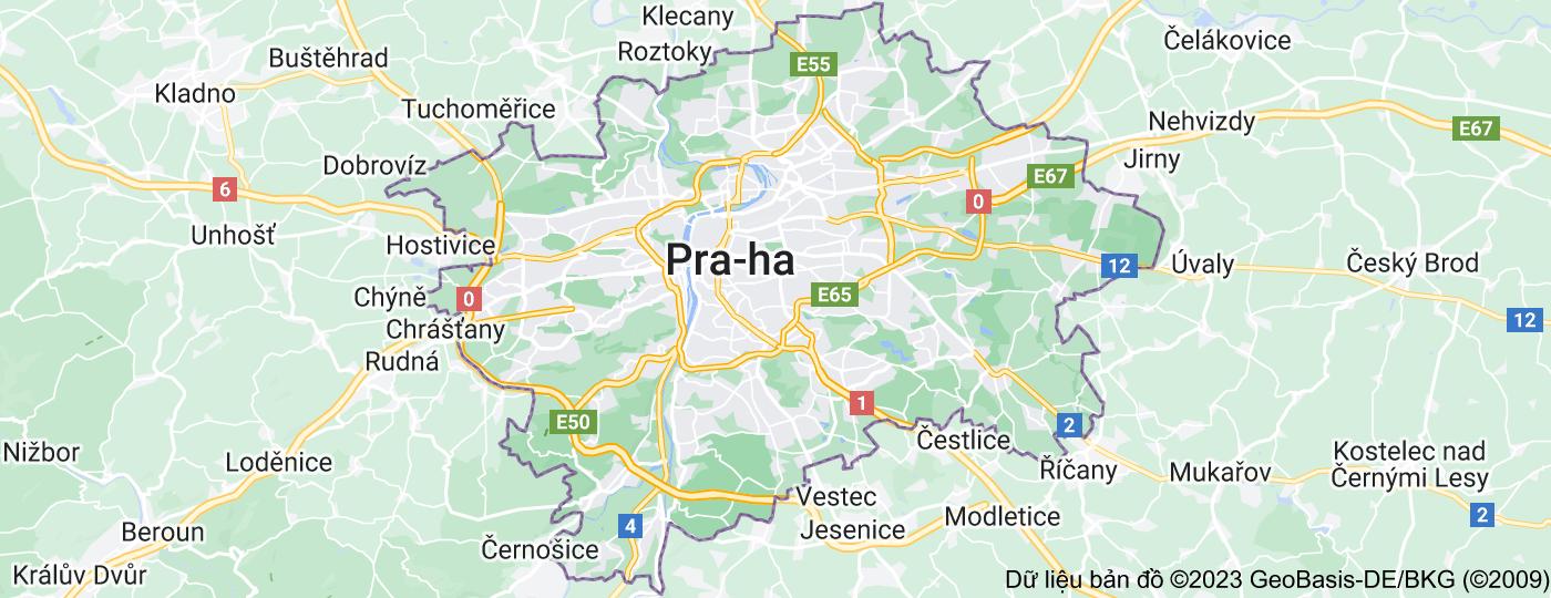 Location of Praha