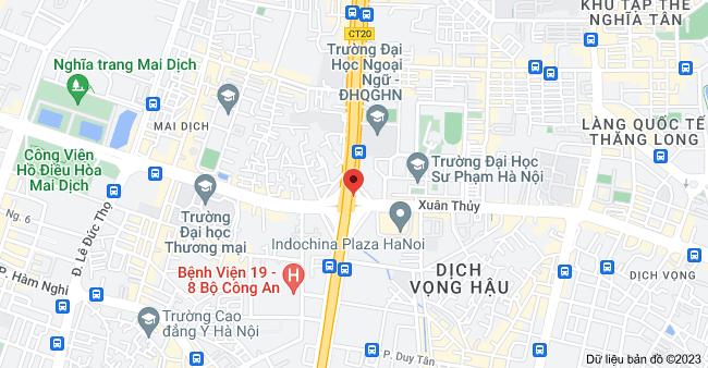 Bản đồ của Xuân Thủy & Đường Hồ Tùng Mậu, Mai Dịch, Cầu Giấy, Hà Nội