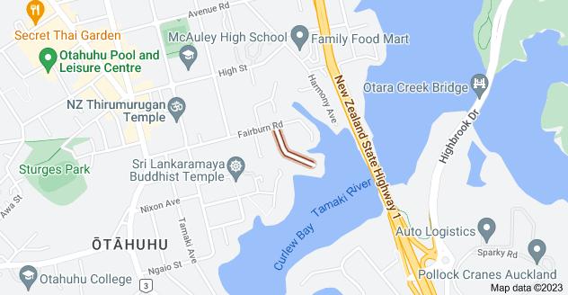Location of Monterey Avenue